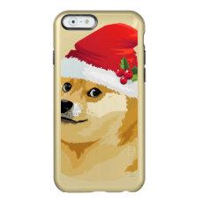 Christmas doge - santa doge - christmas dog incipio feather shine iPhone 6 case