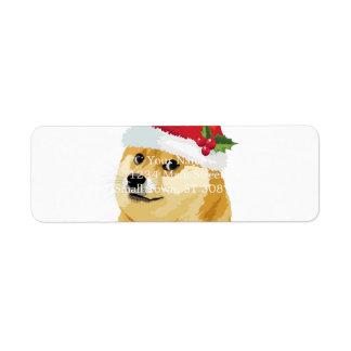 Christmas doge - santa doge - christmas dog label