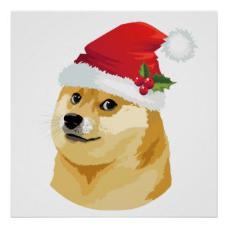 Christmas doge - santa doge - christmas dog poster