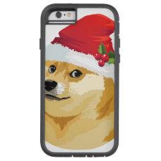 Christmas doge - santa doge - christmas dog tough xtreme iPhone 6 case