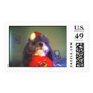 Christmas Doggie Postage