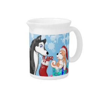 Christmas Doggies! Beverage Pitcher