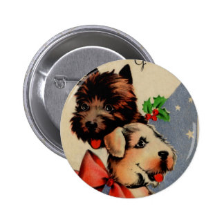 Christmas Doggies Pinback Button
