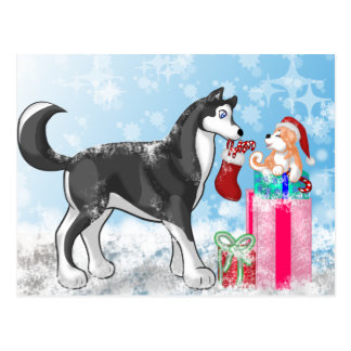 Christmas Doggies! Postcard