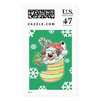 Christmas Doggy stamp