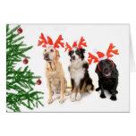 Christmas Dogs Greeting Card