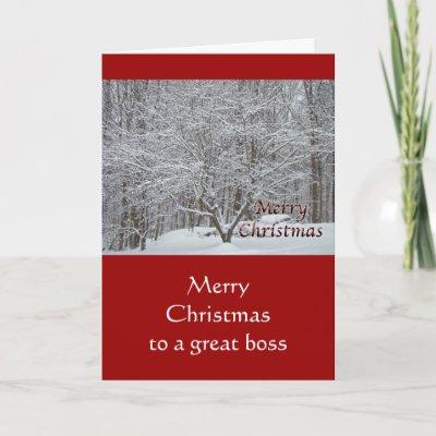 Boss merry christmas snowmanholly holiday card zazzle m4hsunfo