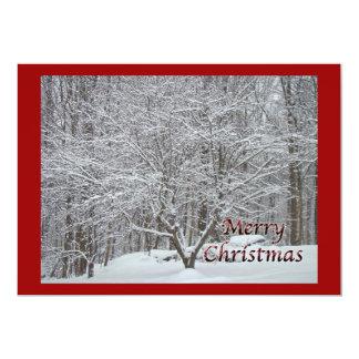 Christmas Dogwood Tree in Snow Invitation