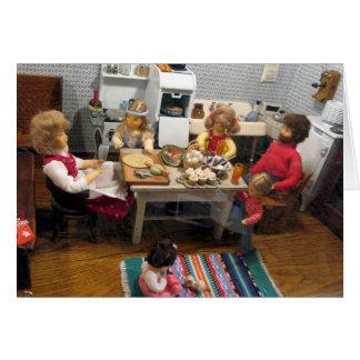 Christmas Dollhouse Kitchen Card - Customizable