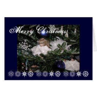Christmas dolls greeting card