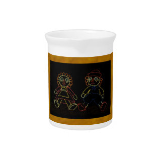 Christmas Dolls (Jack and Jill) ZZ 2016 Beverage Pitcher