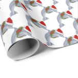 "Christmas dolphin beach wrapping paper<br><div class=""desc"">design by originalartwork@delightful-doodles.com</div>"