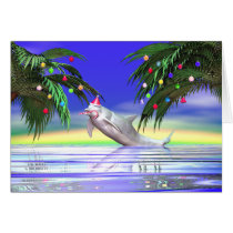 Christmas Dolphin Card