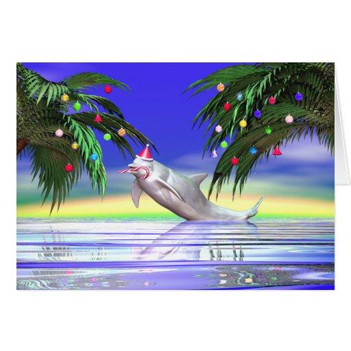 Christmas Dolphin Card