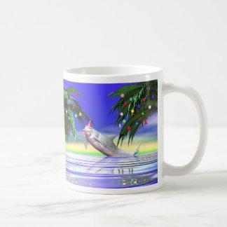 Christmas Dolphin Classic White Coffee Mug