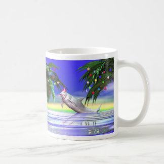 Christmas Dolphin Coffee Mug