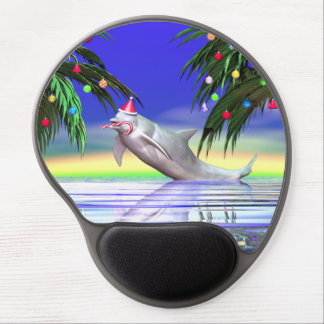 Christmas Dolphin Gel Mouse Pad