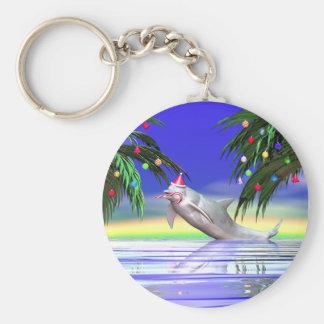 Christmas Dolphin Keychain
