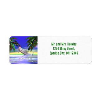 Christmas Dolphin Return Address Labels