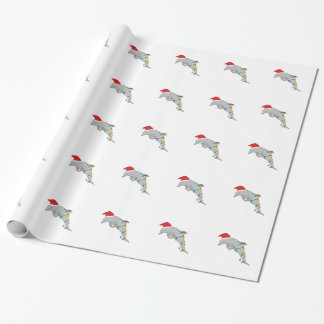 Christmas Dolphin Wrapping Paper