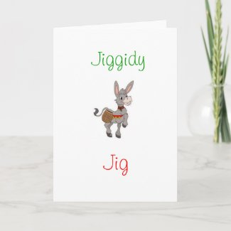 Christmas Dominic the Donkey Greeting Card