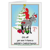 Christmas Donkey Card