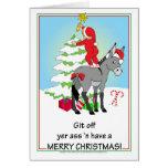 Christmas Donkey Greeting Card