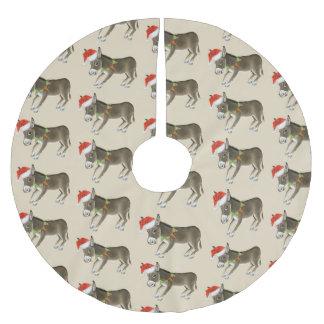 Christmas Donkeys Brushed Polyester Tree Skirt