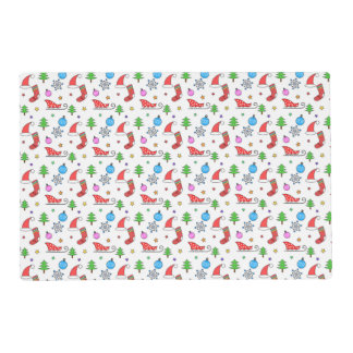Christmas doodle elements pattern placemat