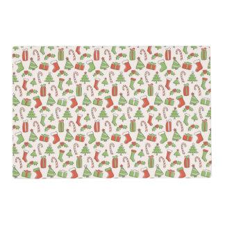 Christmas Doodle Pattern Placemat
