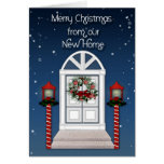Christmas Door Address Change Greeting Greeting Cards