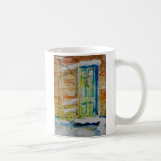 Christmas Door & Ever Green Coffee Mug