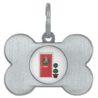 Christmas Door Pet Name Tag