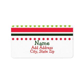 Christmas Dots Address Labels