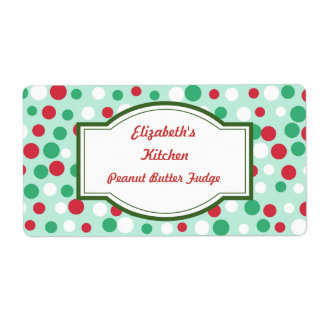Christmas Dots Labels