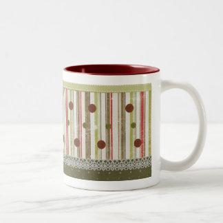 Christmas dots mug