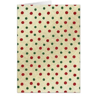 Christmas Dots pattern Card