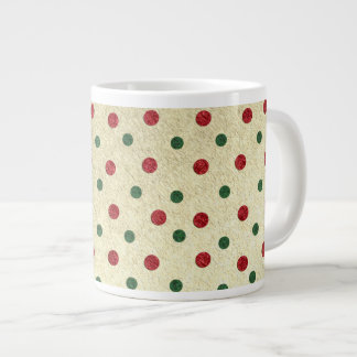 Christmas Dots pattern Extra Large Mug