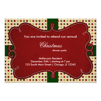 Christmas Dots Personalized Announcement