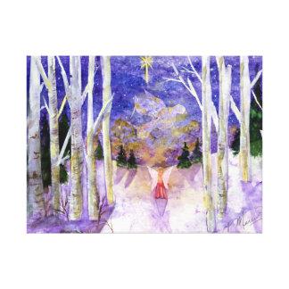 Christmas Dove Angel Canvas Print