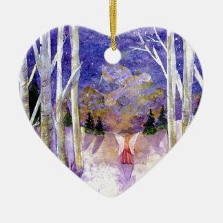 Christmas Dove Angel Ceramic Ornament