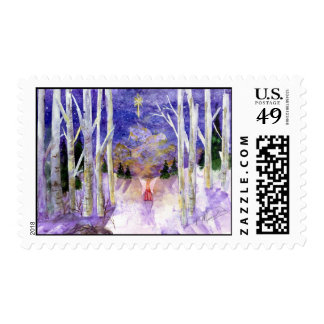 Christmas Dove Angel - Customized Postage Stamp