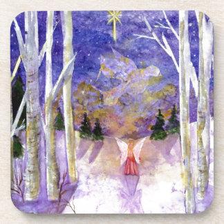 Christmas Dove Angel Drink Coaster