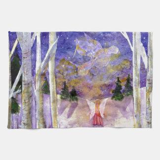 Christmas Dove Angel Hand Towel