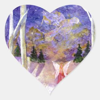 Christmas Dove Angel Heart Sticker