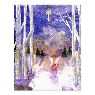 Christmas Dove Angel Letterhead