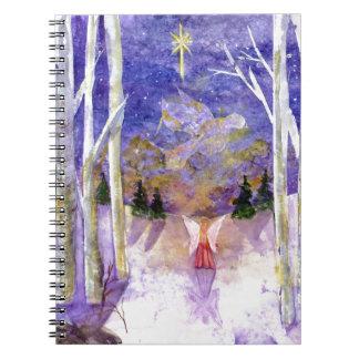 Christmas Dove Angel Notebook