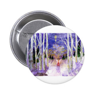 Christmas Dove Angel Pinback Button