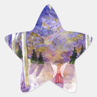 Christmas Dove Angel Star Sticker