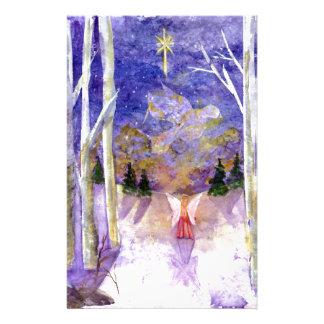 Christmas Dove Angel Stationery